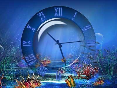Aquatic clock screensaver aquatic screensaver orologio for Sfondo animato pesci
