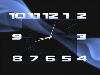 Screenshot vom Programm: Box Clock Screensaver