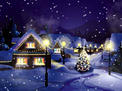 Click to view Christmas Snowfall Screensaver screenshots