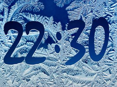 Click to view Frost Clock Screensaver 3.0 screenshot