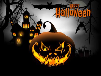 Animated Halloween screensaver.