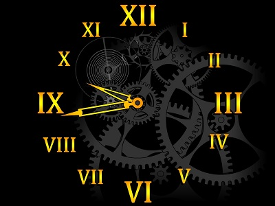 Screenshot vom Programm: Clock Mechanism Screensaver