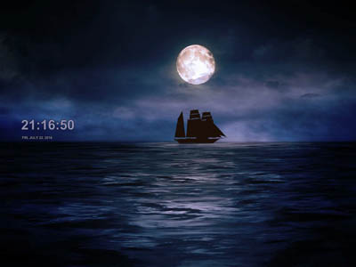 Click to download Moonlit Ship Screensaver