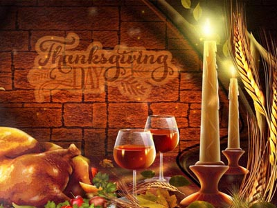 Thanksgiving Holiday animated screensaver.