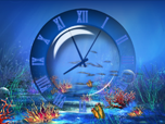 Aquatic Clock Screensaver