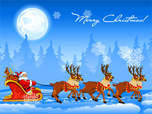 Free Animated Screensavers - Christmas Sleigh Screensaver