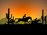 Cowboy Ride - Windows 8 Cartoon Screensavers
