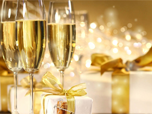 Free Holiday Screensavers - Holiday Champagne Screensaver
