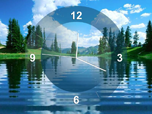 Free Summer Screensavers - Lake Clock Screensaver