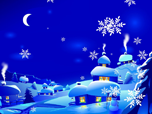 Free Holiday Screensavers - New Year Snowfall Screensaver
