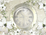Silver Clock Screensaver - Free Analog Clock Screensaver