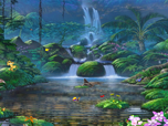 Free Cartoon Screensavers - Fascinating Waterfalls Screensaver