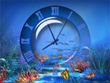 Aquatic Clock Screensaver - Free Screensavers