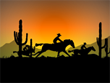 Cowboy Ride Screensaver - Free Screensavers