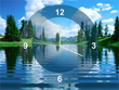 Lake Clock Screensaver - Free Screensavers