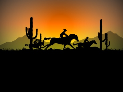 Cowboy Ride - Free Cowboy Screensaver