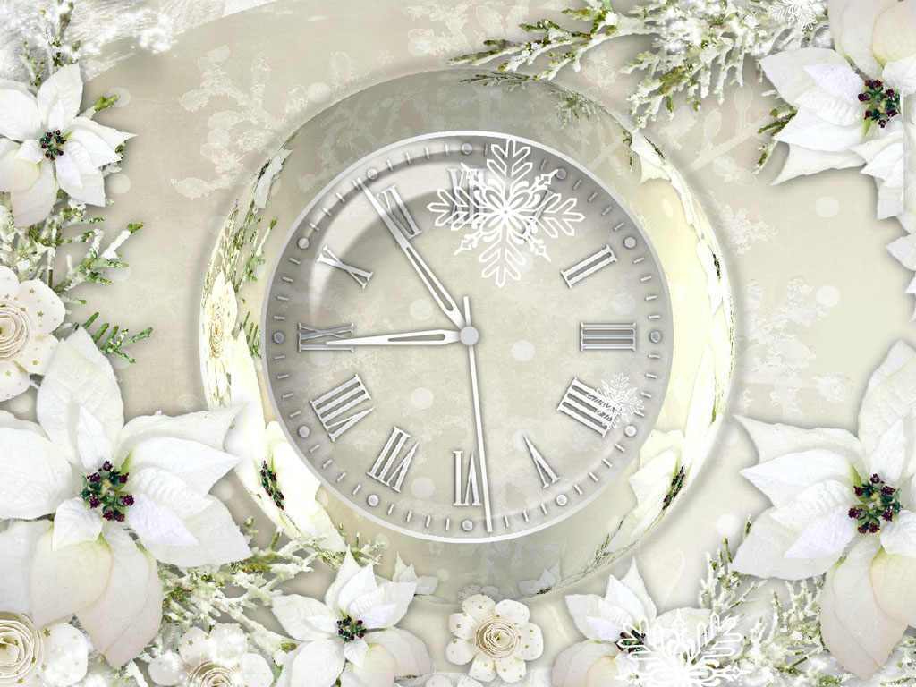 Silver Clock - Free Holiday Screensaver