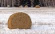 Winter hay bales - winter wallpaper
