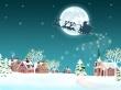 Santa with reindeers - christmas wallpaper