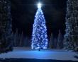 Christmas blue tree - christmas wallpaper