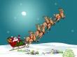 Santa and reindeers - christmas wallpaper