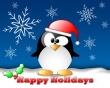 Happy Penguin - christmas wallpaper
