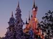 Disneyland in winter - christmas wallpaper