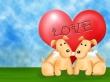Happy dogs heart - valentines wallpaper