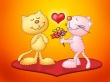Love for cats - valentines wallpaper
