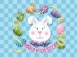 Easter bunny head - easter wallpaper