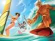 Summer surfing - summer wallpaper