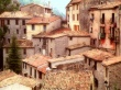 Ocher Rooftops Peille - france wallpaper