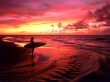 Surfer at Twilight - usa wallpaper