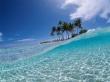 Beach in blue - scenery wallpaper