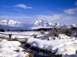 Grand Tetons - winter wallpaper