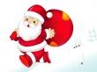 Santa On The Run - christmas wallpaper