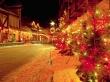 Spangled Street - christmas wallpaper