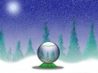 Snowy Globe - christmas wallpaper