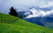 Green Over Clouds - scenery wallpaper