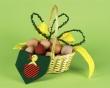 Basket full of eggs - easter wallpaper