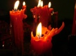Red Candles - christmas wallpaper