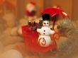 Snowman Sledge - christmas wallpaper