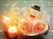 Snowmans Candles - christmas wallpaper