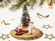 Santa and Snowman - christmas wallpaper