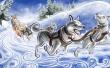 Dogs Caravan - winter wallpaper