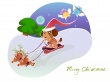 Puppy Santa - christmas wallpaper