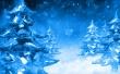 Ice Firs - christmas wallpaper