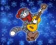 Guitar Carol Cat - christmas wallpaper