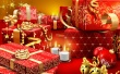 Red Fancy Presents - christmas wallpaper