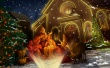 Christs Born - christmas wallpaper